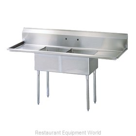 Turbo Air TSA-2-D1 Compartment Sink