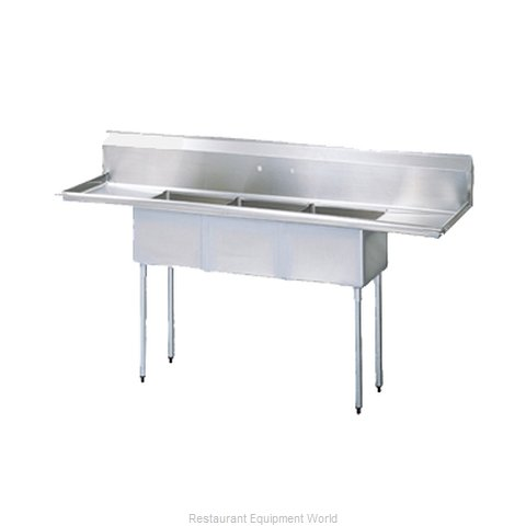 Turbo Air TSA-3-12-D1 Sink, (3) Three Compartment