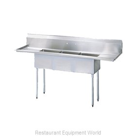 Turbo Air TSA-3-14-D2 Sink, (3) Three Compartment