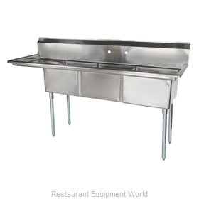 Turbo Air TSA-3-L1 Sink, (3) Three Compartment