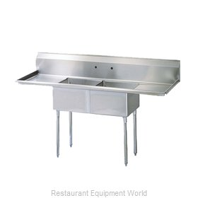 Turbo Air TSB-2-D2 Sink, (2) Two Compartment