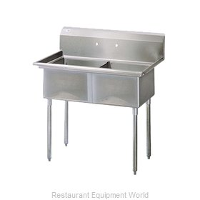 Turbo Air TSB-2-N Sink, (2) Two Compartment