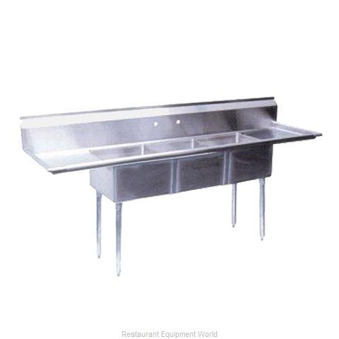 Turbo Air TSB-3-D2 Sink, (3) Three Compartment