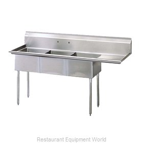 Turbo Air TSB-3-R2 Sink, (3) Three Compartment