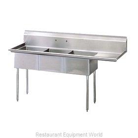 Turbo Air TSB-3-R2 Sink, (3) Three Compartment