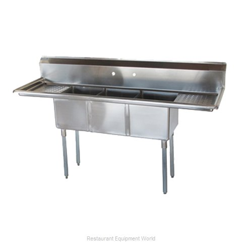 Turbo Air TSCS-3-21 Sink, (3) Three Compartment