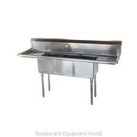 Turbo Air TSCS-3-23 Sink, (3) Three Compartment
