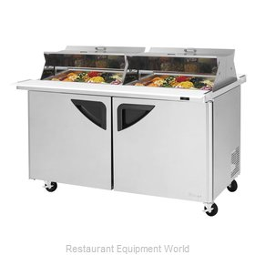 Turbo Air TST-60SD-24-N-DS Refrigerated Counter, Mega Top Sandwich / Salad Unit