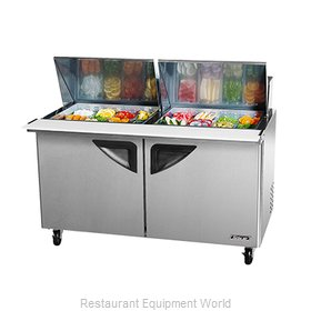 Turbo Air TST-60SD-24 Refrigerated Counter, Mega Top Sandwich / Salad Unit