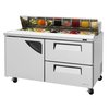 Turbo Air TST-60SD-D2-N Refrigerated Counter, Sandwich / Salad Top