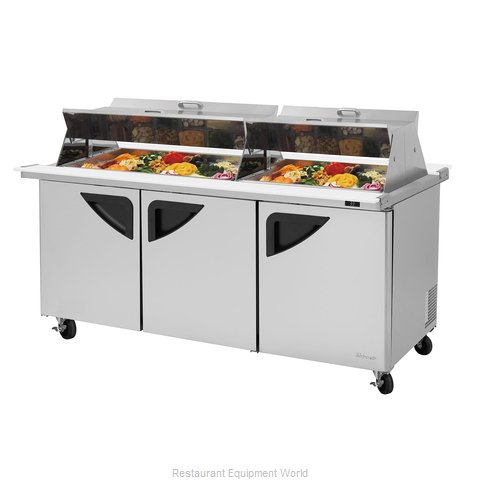 Turbo Air TST-72SD-30-N-DS Refrigerated Counter, Mega Top Sandwich / Salad Unit