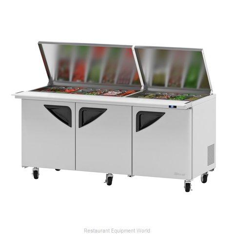 Turbo Air TST-72SD-30-N-FL Refrigerated Counter, Mega Top Sandwich / Salad Unit