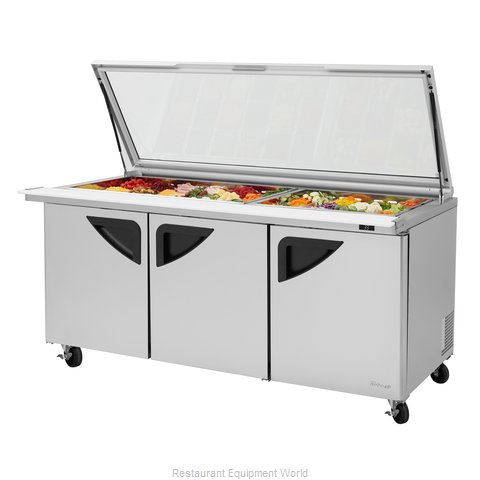 Turbo Air TST-72SD-30-N-GL Refrigerated Counter, Mega Top Sandwich / Salad Unit