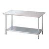 Mesa de Trabajo, 183cm (72 pulgadas) <br><span class=fgrey12>(Turbo Air TSW-2472E Work Table,  63