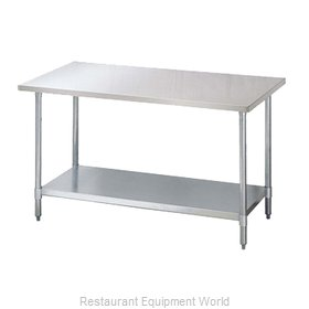 Turbo Air TSW-2472S Work Table 72 Long Stainless steel Top