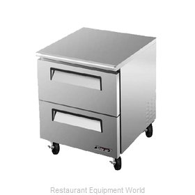 Turbo Air TUF-28SD-D2 Reach-In Undercounter Freezer 1 section