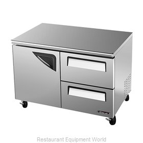 Turbo Air TUF-48SD-D2 Reach-In Undercounter Freezer 2 section