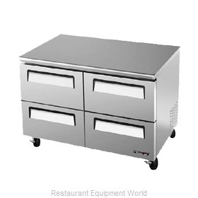 Turbo Air TUF-48SD-D4 Reach-In Undercounter Freezer 2 section