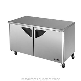 Turbo Air TUF-60SD Reach-In Undercounter Freezer 2 section