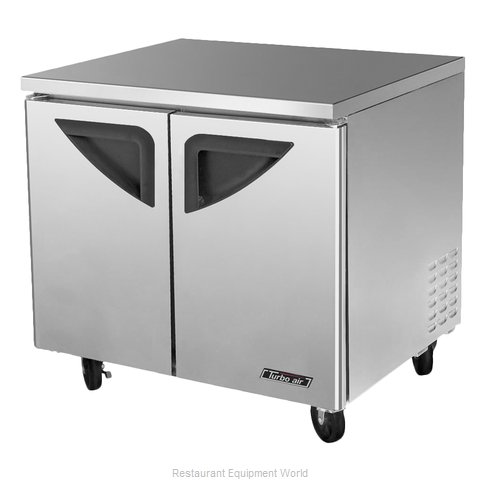 Turbo Air TUR-36SD Refrigerator, Undercounter, Reach-In (Magnified)
