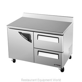 Turbo Air TWF-48SD-D2 Freezer Counter Work Top