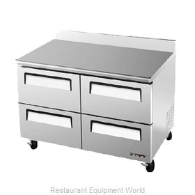 Turbo Air TWF-48SD-D4 Freezer Counter Work Top