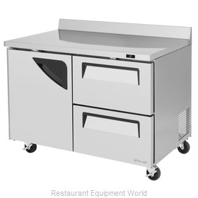 Turbo Air TWR-48SD-D2-N Refrigerated Counter, Work Top