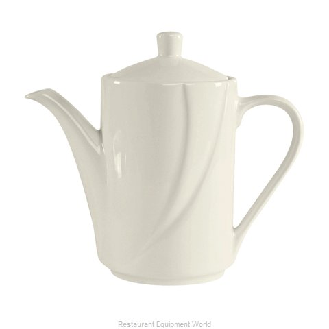 Tuxton China ASU-101 China Coffee Pot Teapot