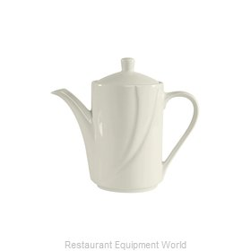 Tuxton China ASU-102 China Coffee Pot Teapot