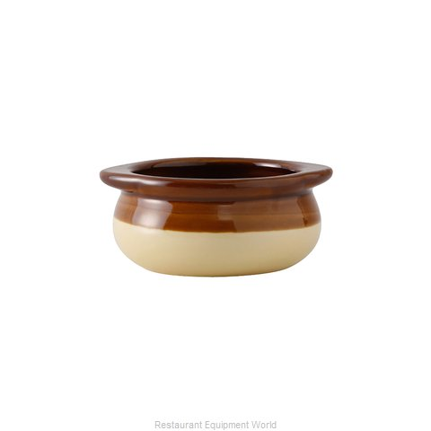 Tuxton China B6S-1003 Soup Bowl Crock, Onion