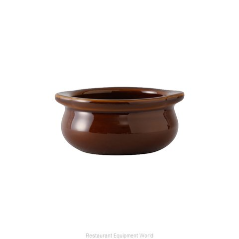 Tuxton China BAS-1003 Soup Bowl Crock, Onion