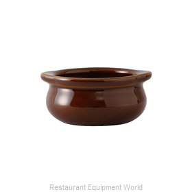 Tuxton China BAS-1203 Soup Bowl Crock, Onion