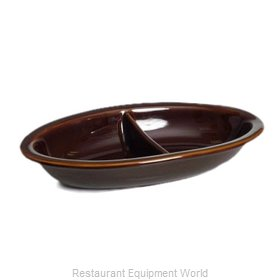 Tuxton China BAZ-4203 China Compartment Dish Bowl