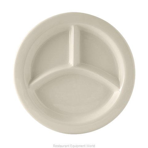 Tuxton China BEA-0903 Plate/Platter, Compartment, China (Magnified)