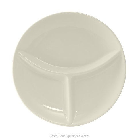 Tuxton China BEA-090A Plate/Platter, Compartment, China (Magnified)
