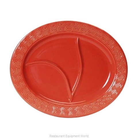 Tuxton China BLZ-1444 China Compartment Plate Platter (Magnified)