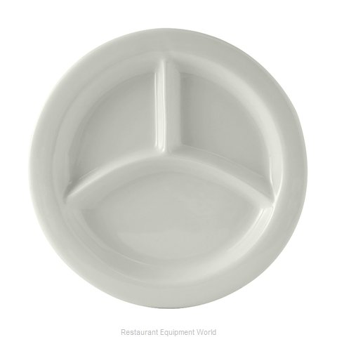 Tuxton China BPA-0903 Plate/Platter, Compartment, China (Magnified)