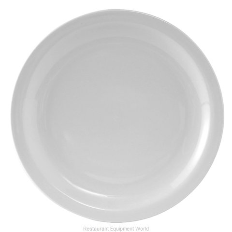 Tuxton China CLA-104 China Plate (Magnified)