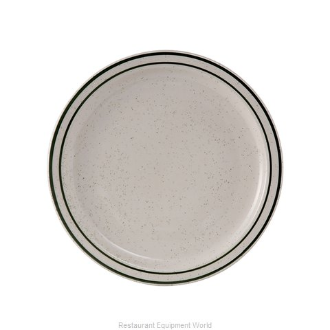 Tuxton China TES-007 China Plate (Magnified)