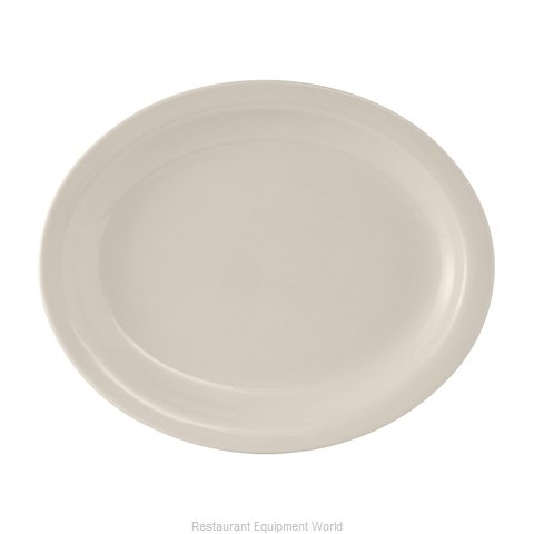 Tuxton China TNR-914 China Platter (Magnified)