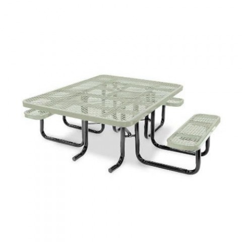 ADA Picnic Table 46 Square (Magnified)