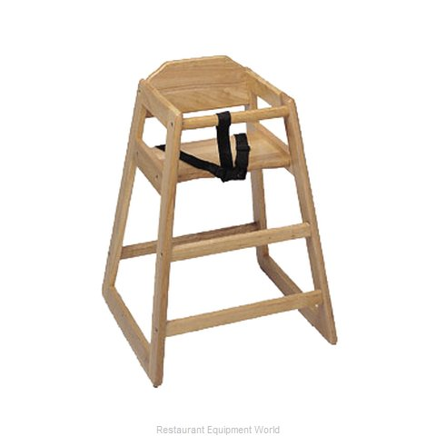 Update International WD-HC High Chair, Wood