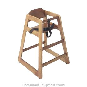 Update International WD-HCA High Chair, Wood