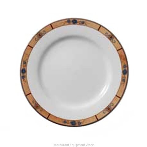 Vertex China RB-6-PNR China Plate (Magnified)