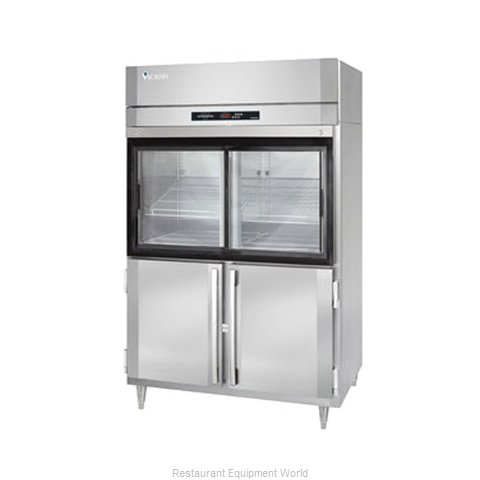 Victory DRA-2D-S1-HD Reach-in Display Refrigerator 2 sections