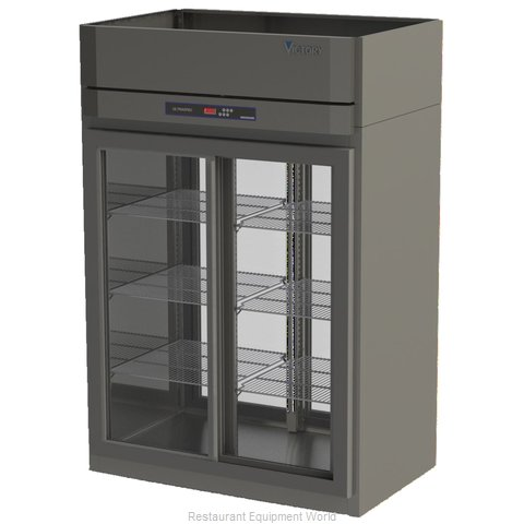 Victory DRS-2D-S1-PT-LD Pass-Thru Display Refrigerator 2 sections