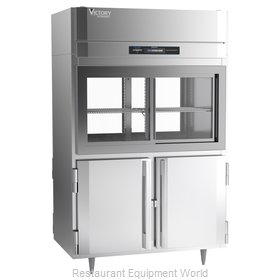 Victory DRSA-2D-S1-PT-HD-HC Refrigerator, Pass-Thru