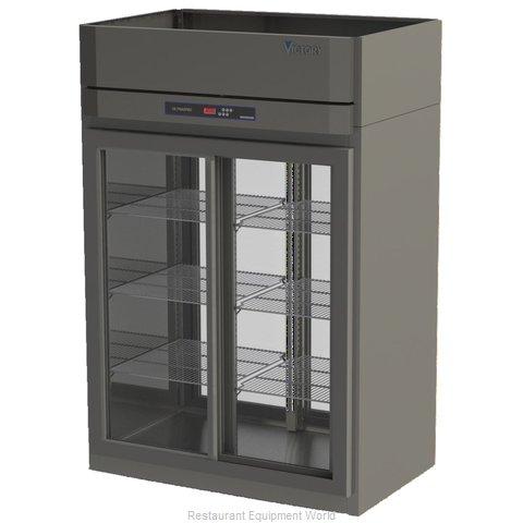 Victory DRSA-2D-S1-PT-LD Pass-Thru Display Refrigerator 2 sections