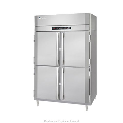 Victory RFS-2D-S1-EWPTHD Pass-Thru Dual Temp Cabinet 2 sections (Magnified)