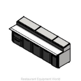 Victory VPPD119-2 Refrigerated Counter, Pizza Prep Table